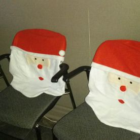 Christmas decorations | Santa covered chairs
